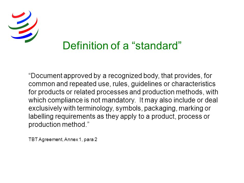 Definition of a standard