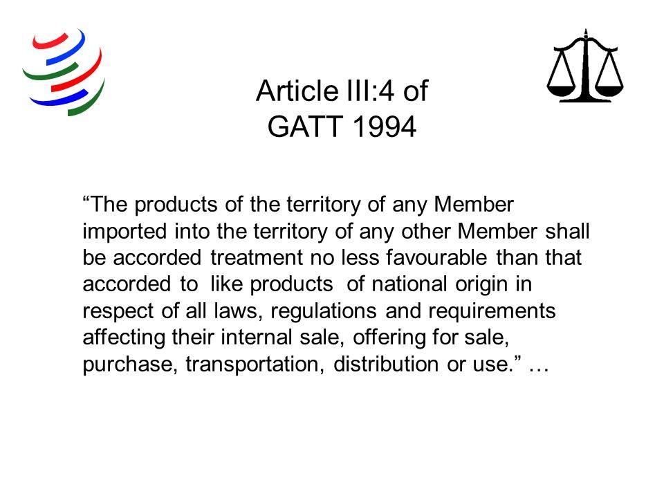 Article III:4 of GATT 1994