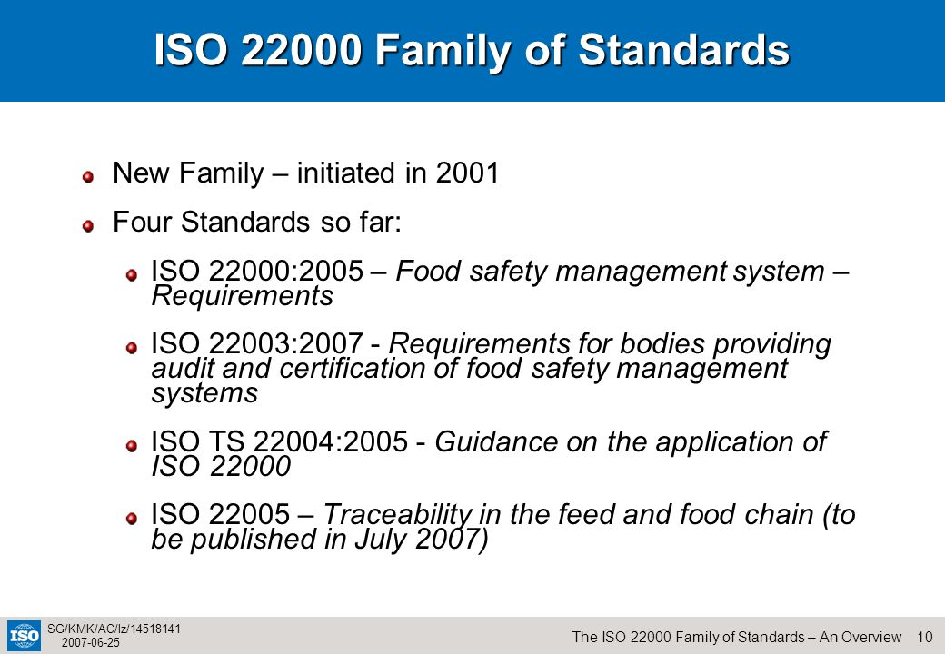 ISO Family of Standards