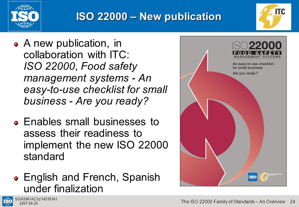 ISO 22000 – New publication