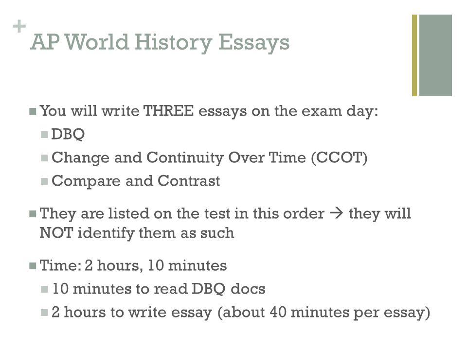 3 types of essays on ap world exam 2014 ap ® world history free-response questions © 2014 the college board  end of exam  title: a p world history 2014 free.