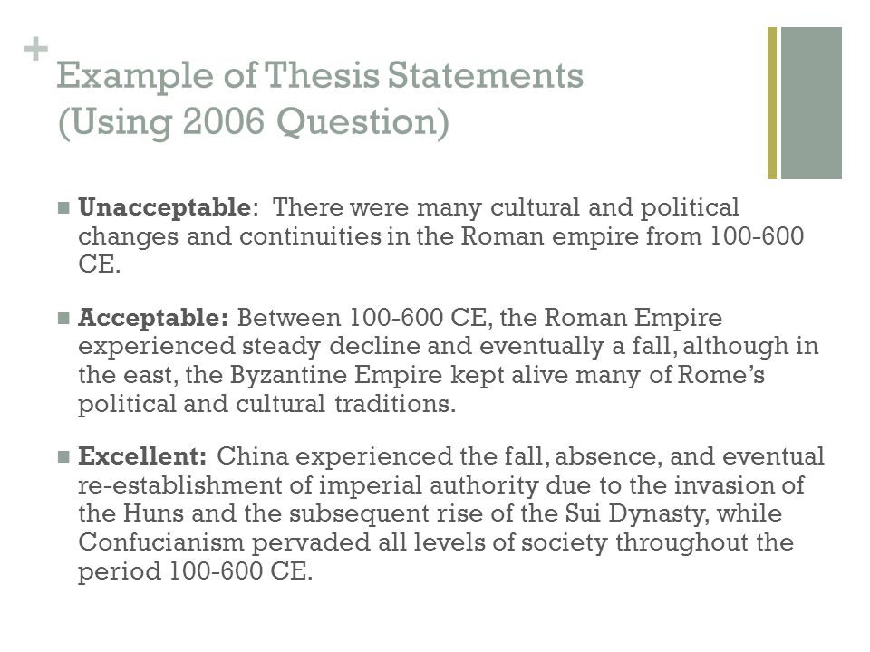 roman changes and continuities essay