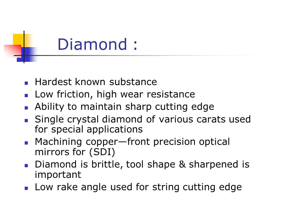 Cutting Tool Materials Ppt Video Online Download