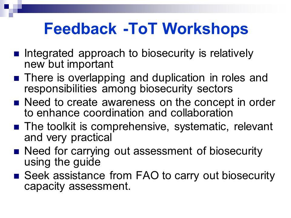 Feedback -ToT Workshops