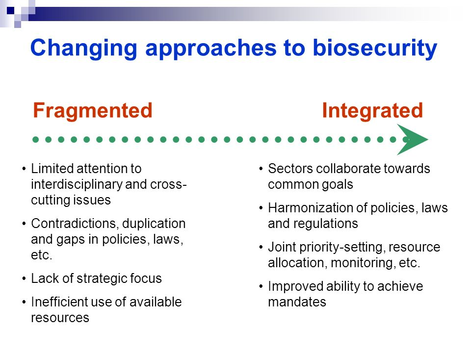 Changing approaches to biosecurity