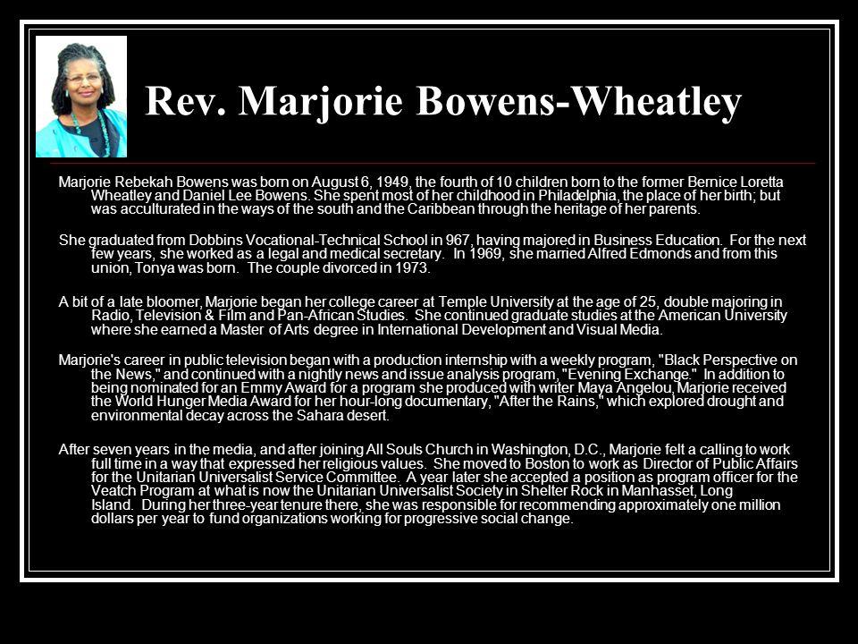 Rev. Marjorie Bowens-Wheatley