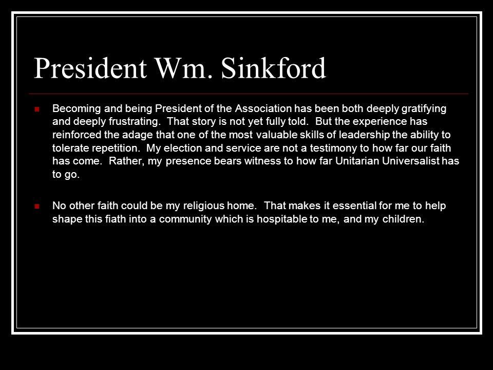 President Wm. Sinkford