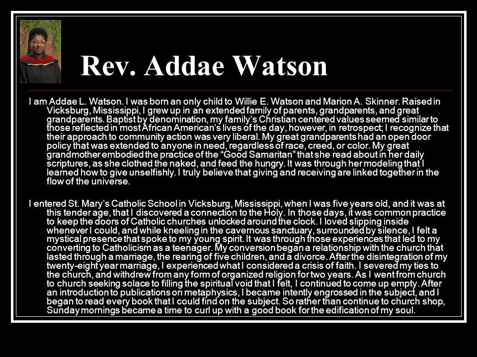 Rev. Addae Watson