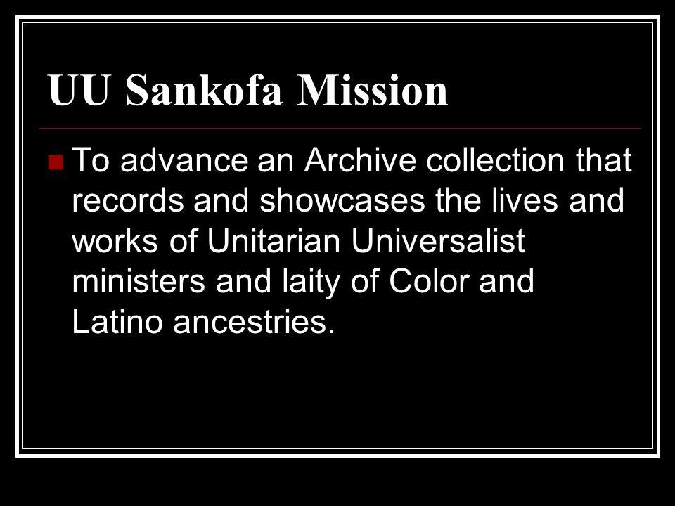 UU Sankofa Mission