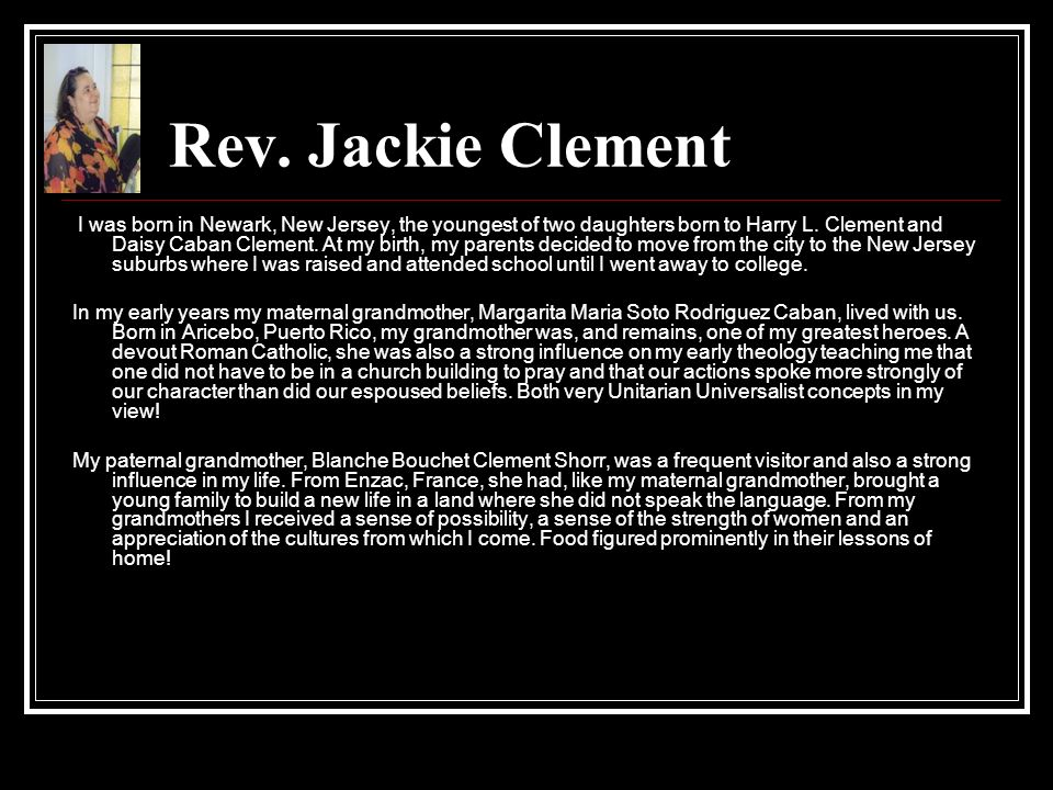 Rev. Jackie Clement