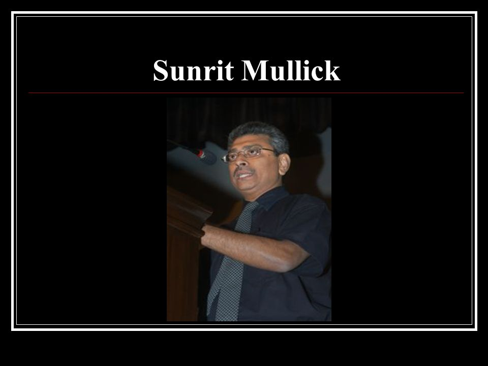 Sunrit Mullick