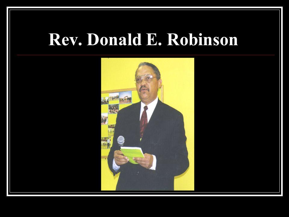 Rev. Donald E. Robinson
