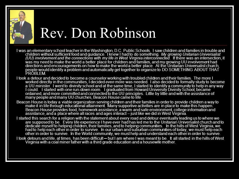 Rev. Don Robinson