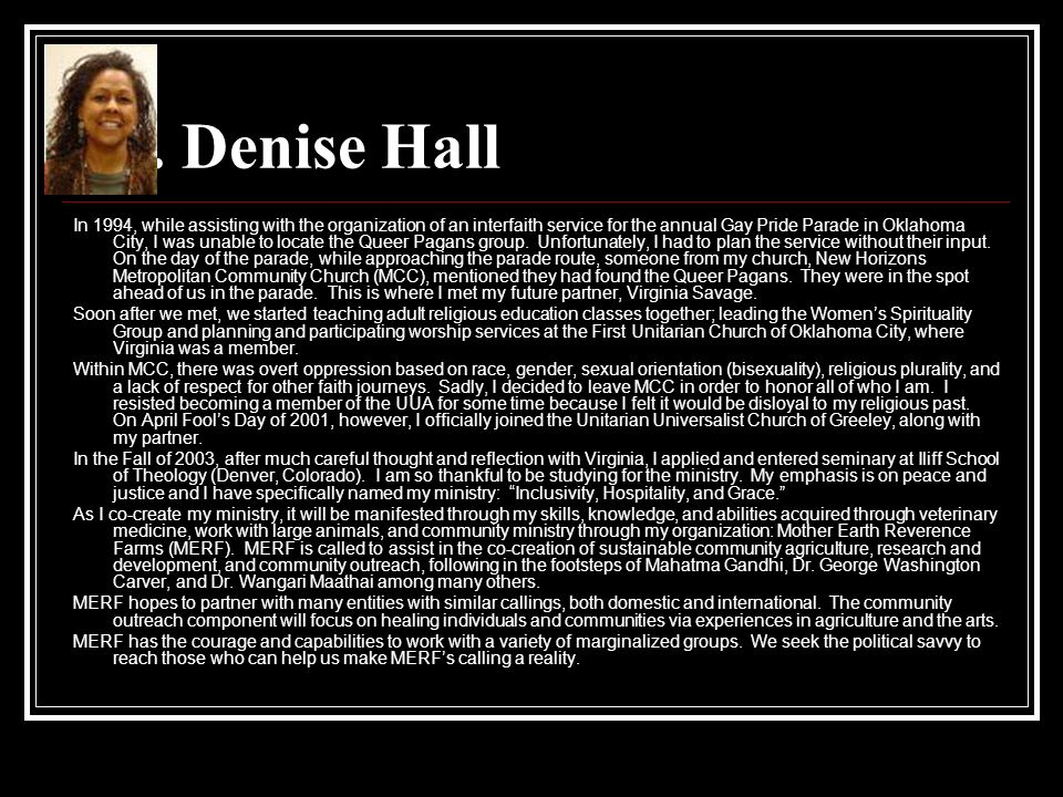 Dr. Denise Hall