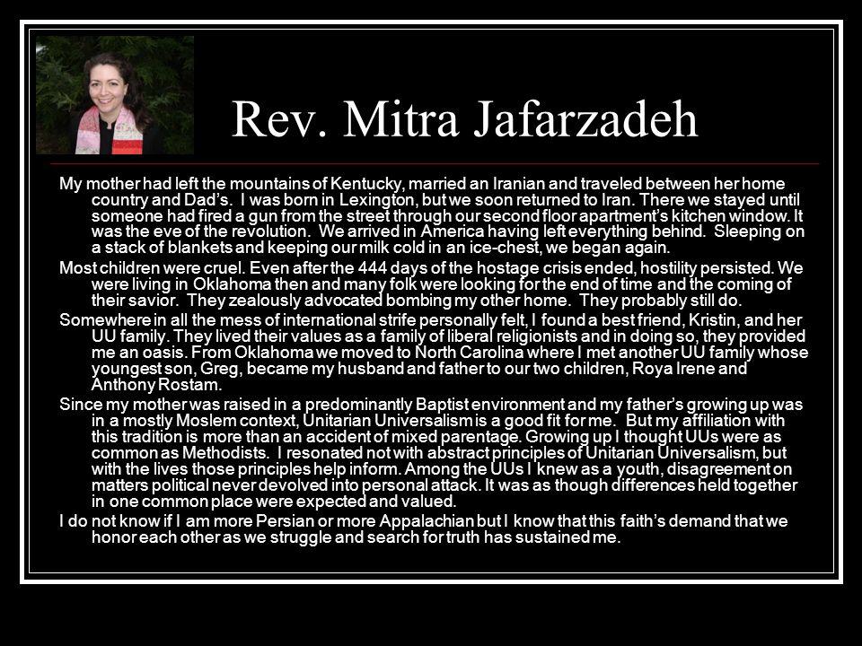 Rev. Mitra Jafarzadeh