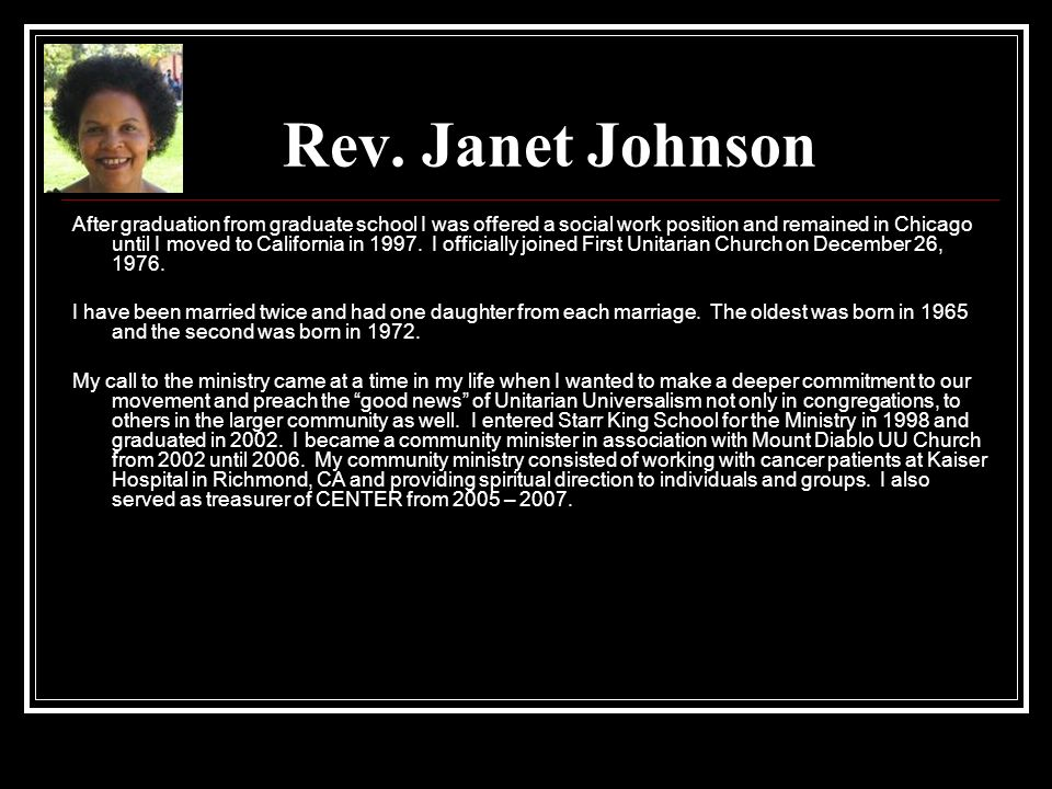 Rev. Janet Johnson