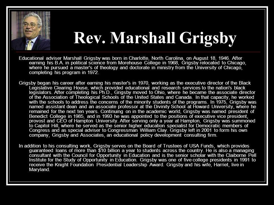 Rev. Marshall Grigsby