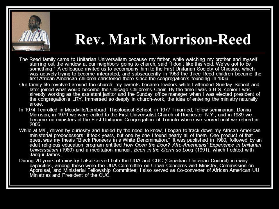 Rev. Mark Morrison-Reed