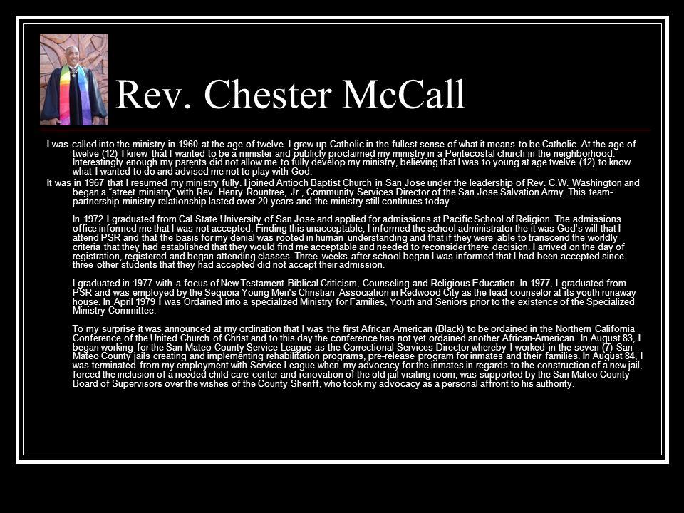 Rev. Chester McCall