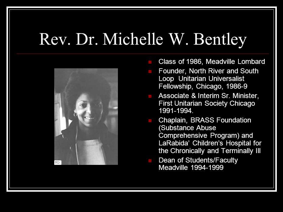 Rev. Dr. Michelle W. Bentley