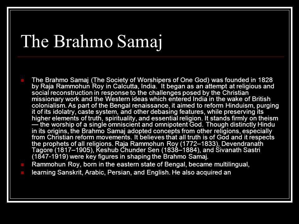 The Brahmo Samaj