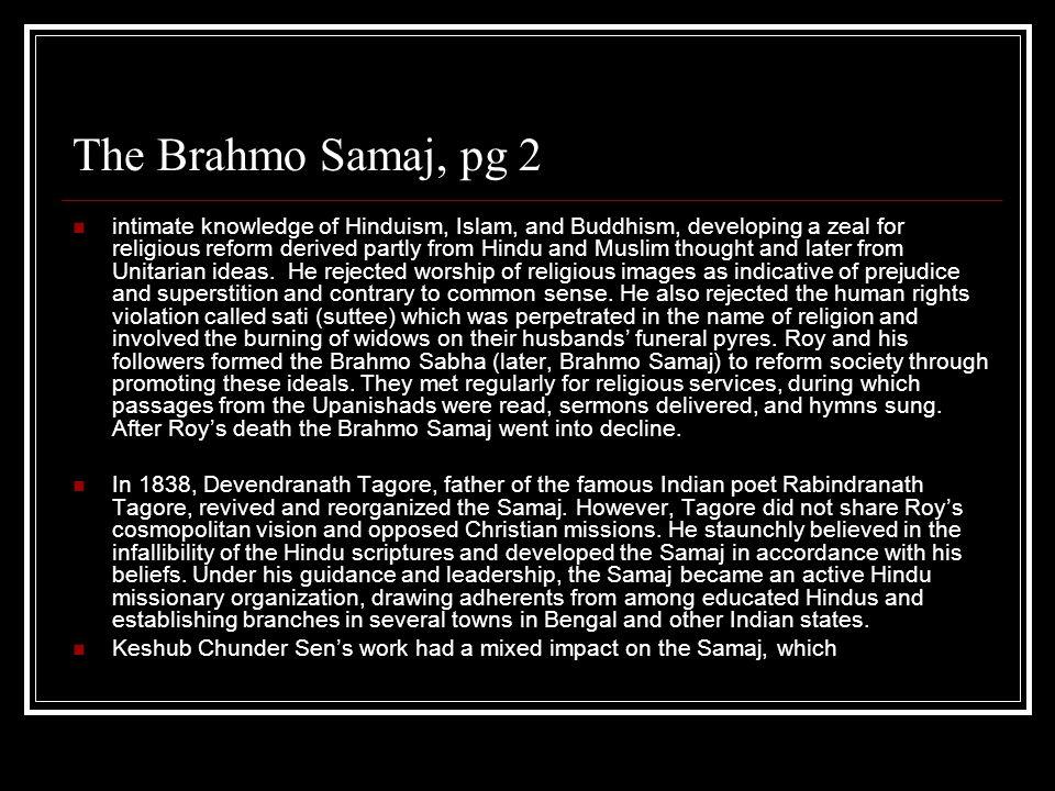 The Brahmo Samaj, pg 2