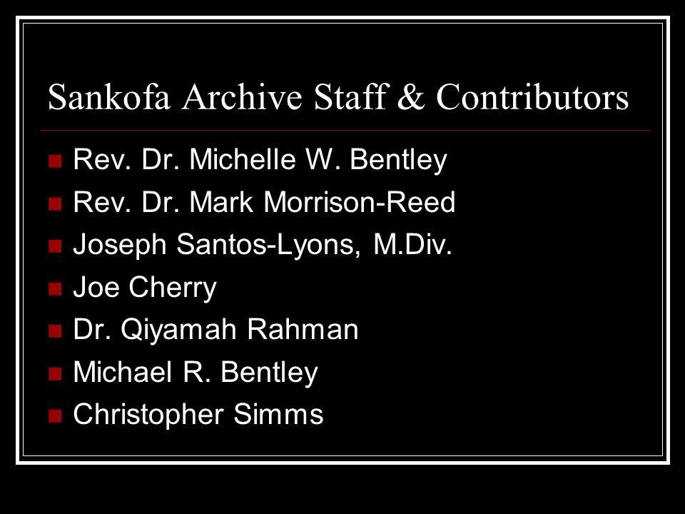 Sankofa Archive Staff & Contributors