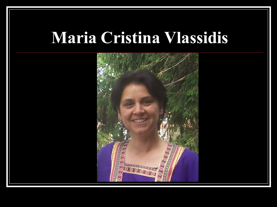 Maria Cristina Vlassidis