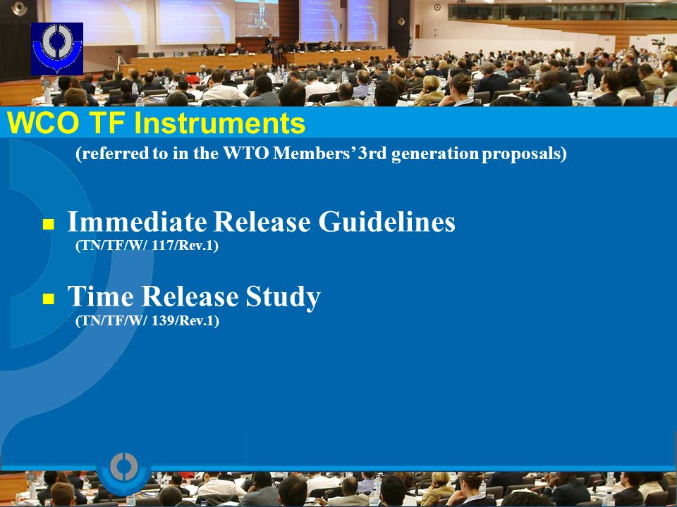 Immediate Release Guidelines Time Release Study