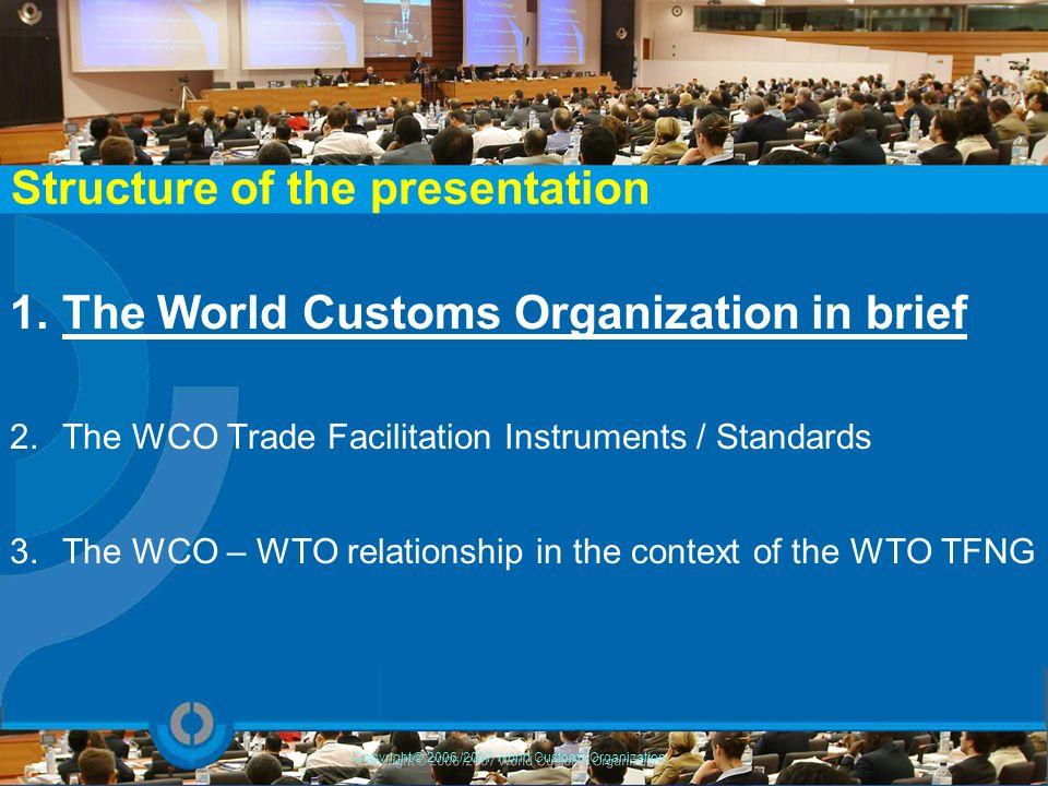 Copyright © 2006 /2007 World Customs Organization