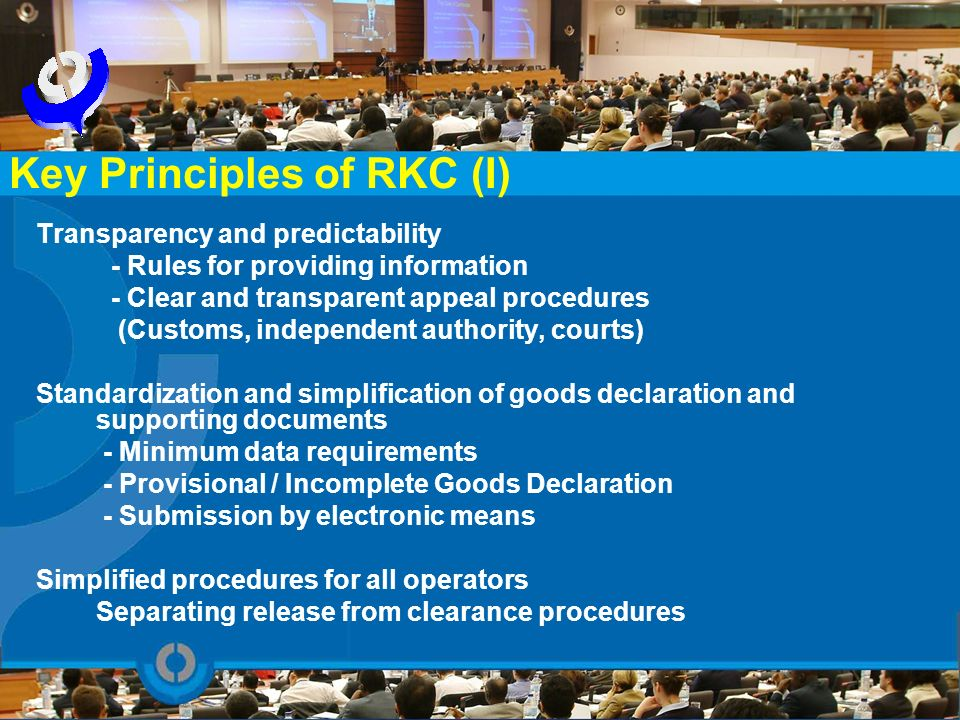 Key Principles of RKC (I)
