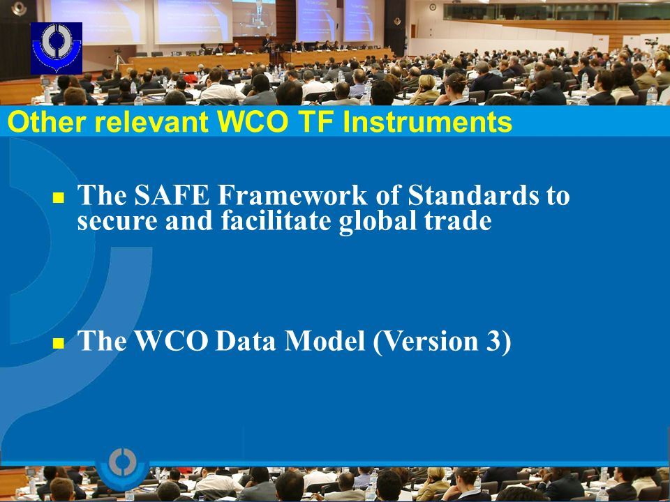 Other relevant WCO TF Instruments