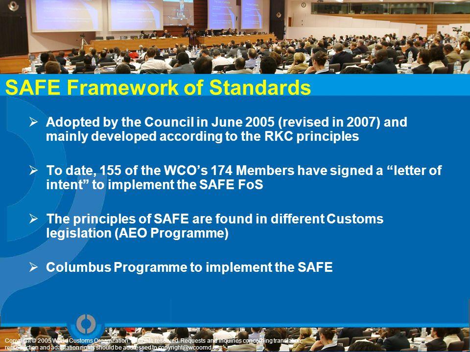 SAFE Framework of Standards