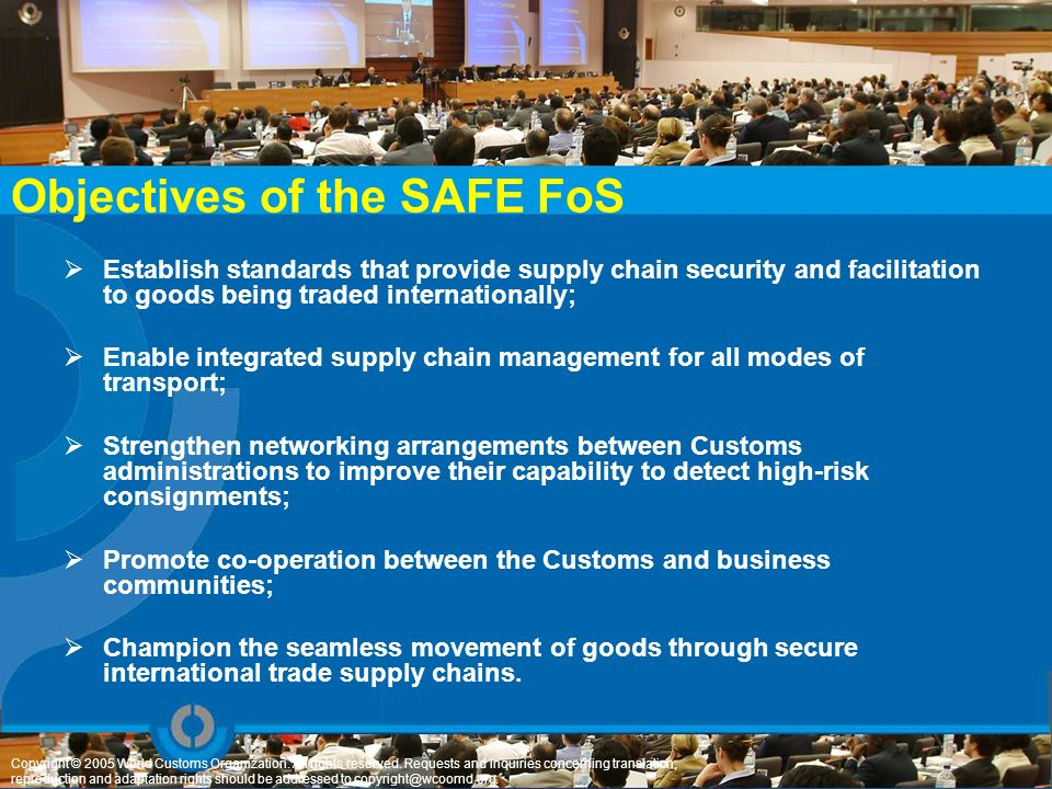 Objectives of the SAFE FoS