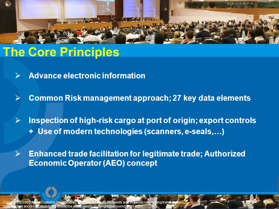 The Core Principles Advance electronic information