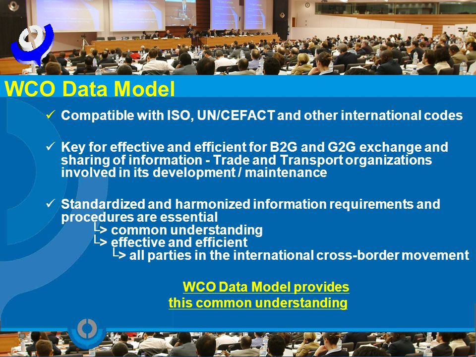 WCO Data Model provides this common understanding