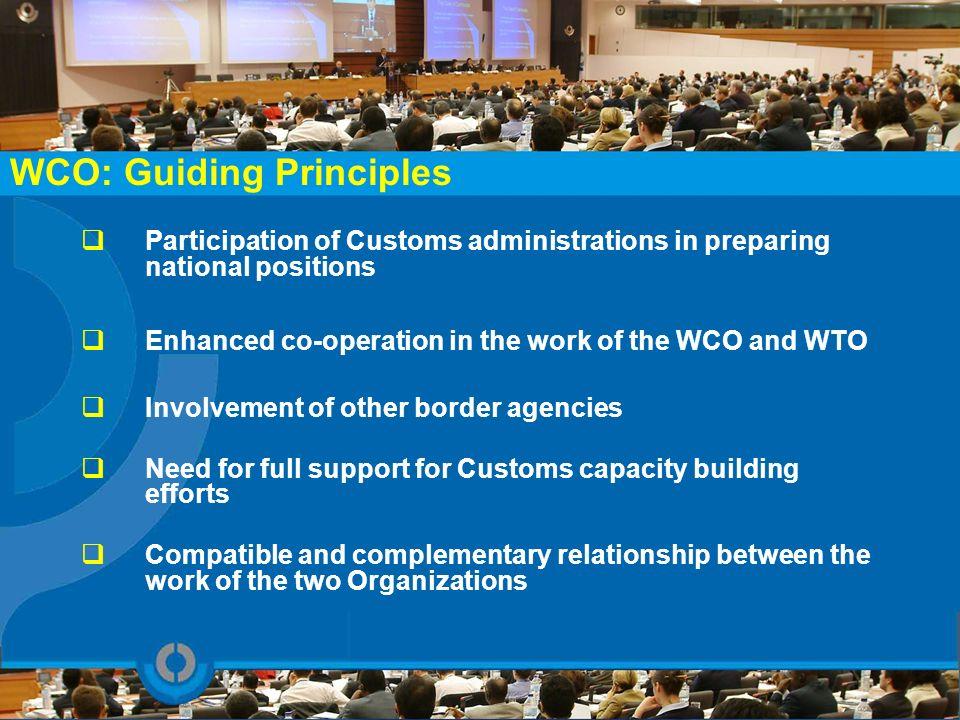 WCO: Guiding Principles