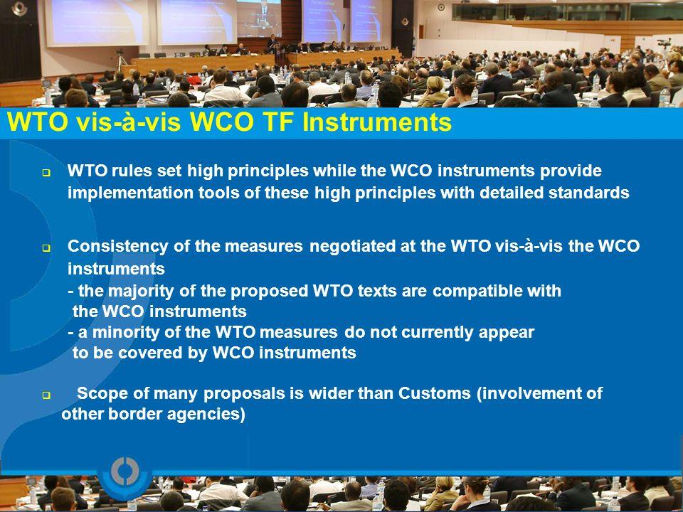 WTO vis-à-vis WCO TF Instruments