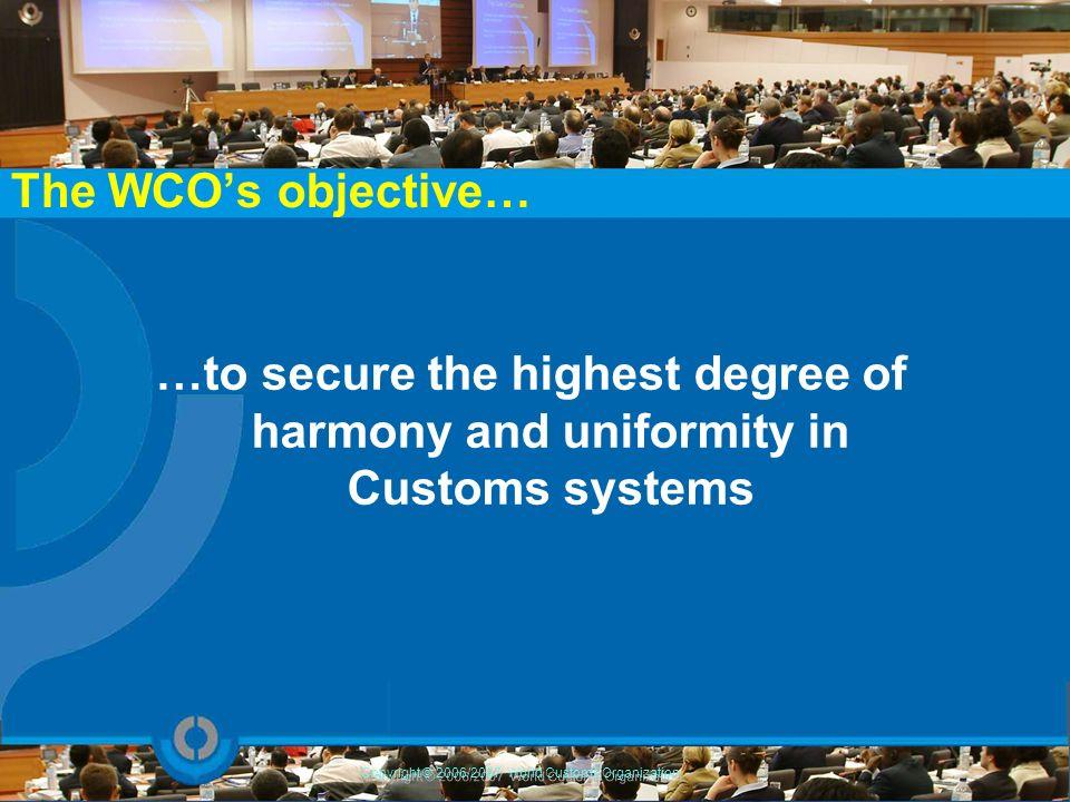 Copyright © 2006/2007 World Customs Organization