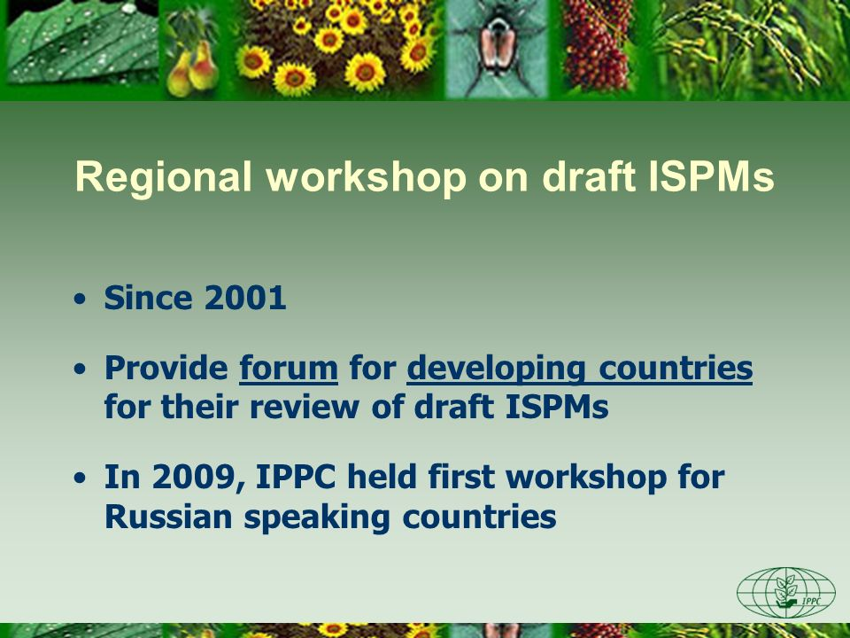 Regional workshop on draft ISPMs