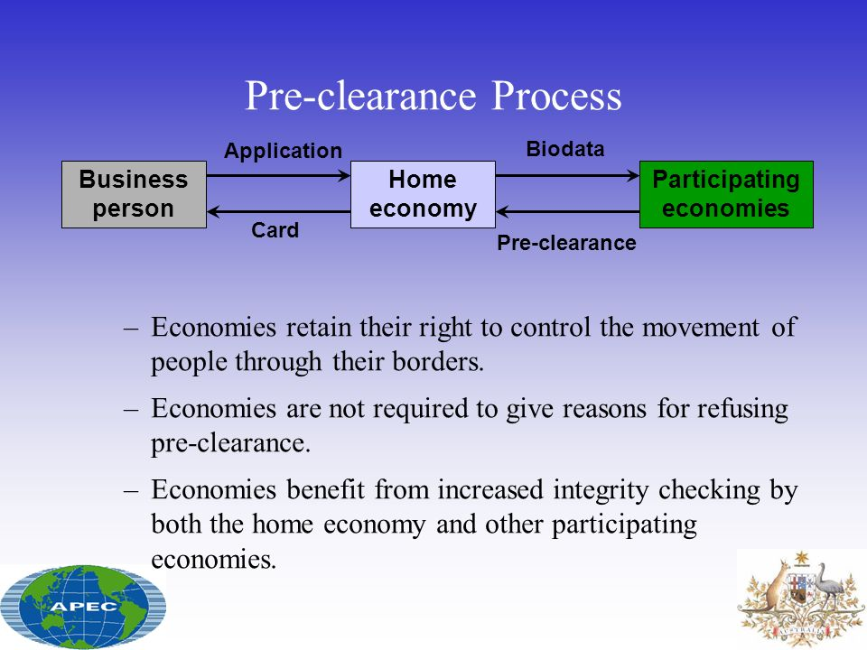 Pre-clearance Process