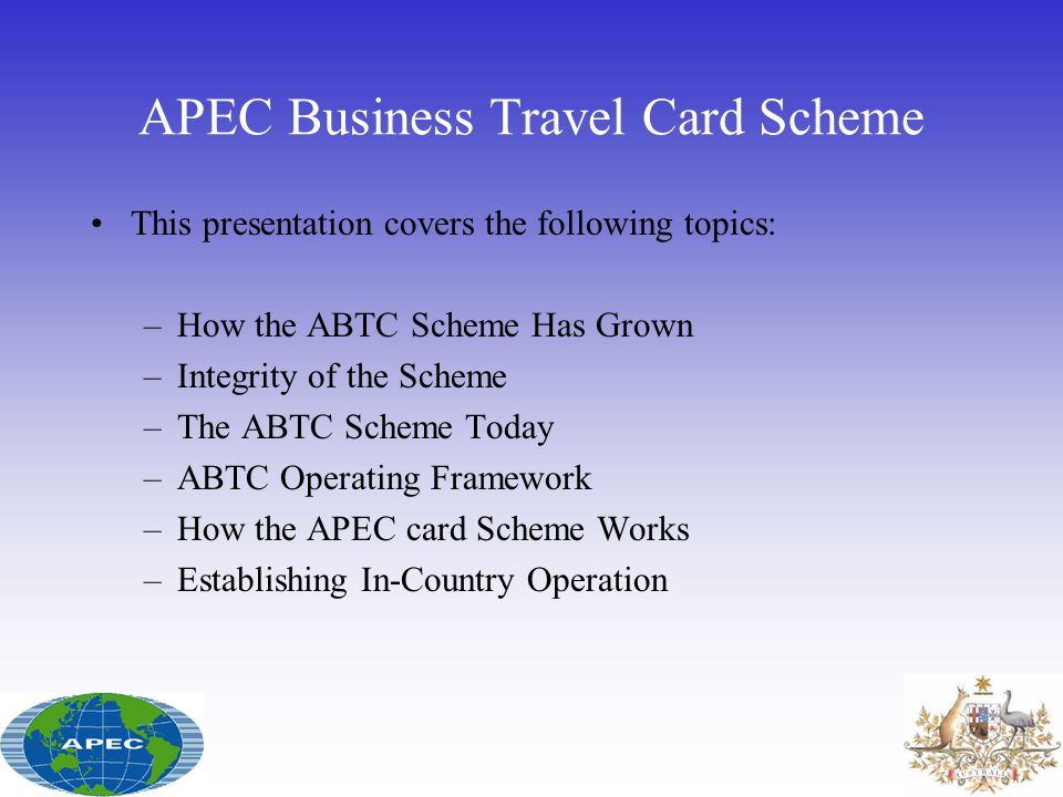 APEC Business Travel Card Scheme