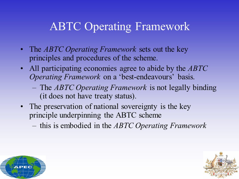ABTC Operating Framework