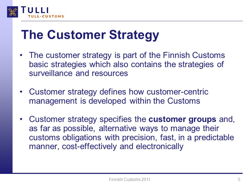 The Customer Strategy