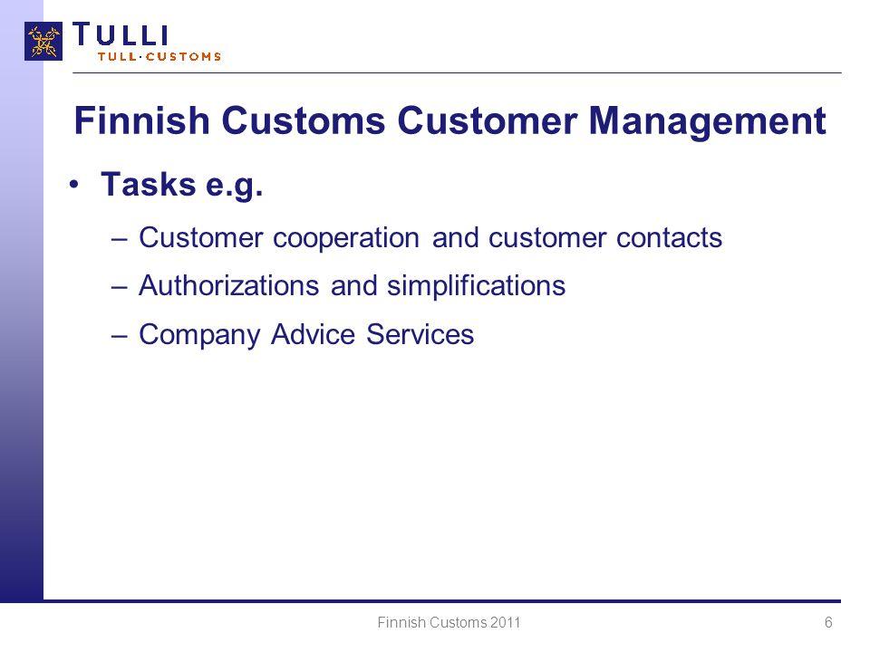 Finnish Customs Customer Management