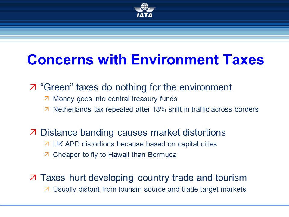 Concerns with Environment Taxes