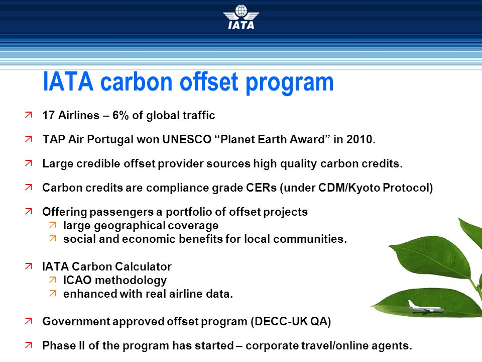 IATA carbon offset program