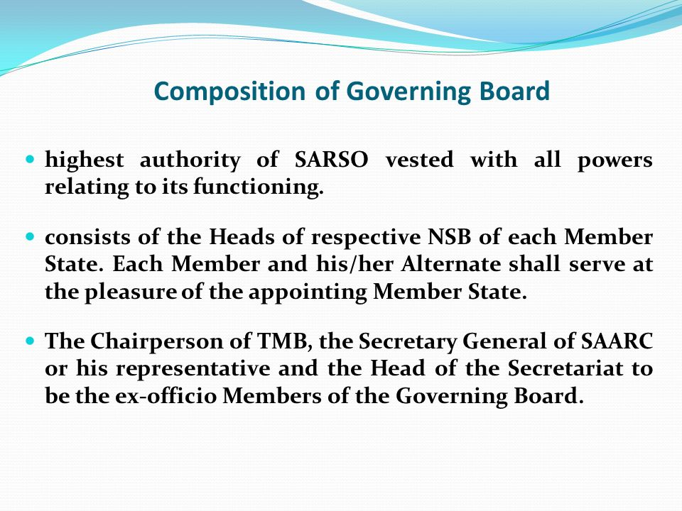 Composition of Governing Board