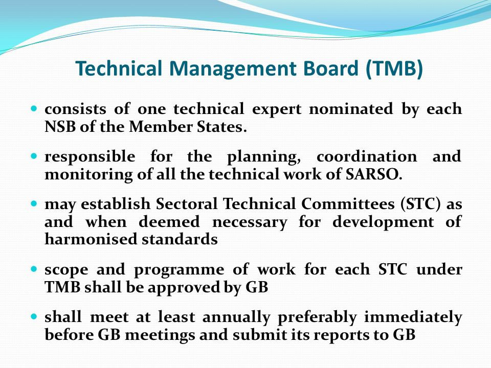 Technical Management Board (TMB)