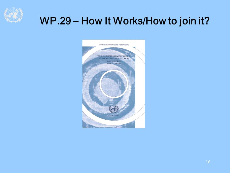 WP.29 – How It Works/How to join it